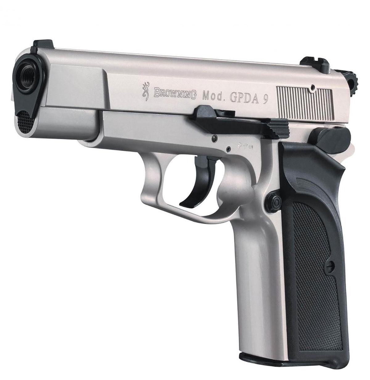 browning gpda 9 schreckschusspistole vernickelte version. Black Bedroom Furniture Sets. Home Design Ideas